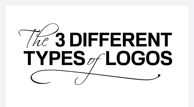 the three different types of logos infographic robert hacala brand design. Black Bedroom Furniture Sets. Home Design Ideas
